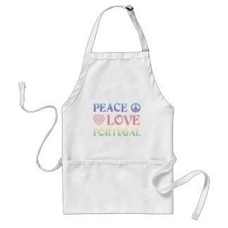 Peace Love Portugal Adult Apron