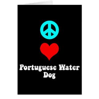Peace love Portuguese Water Dog Card