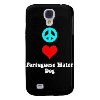 peace love portuguese water dog samsung s4 case