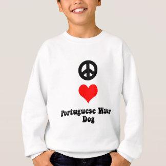 Peace love Portuguese Water Dog Sweatshirt