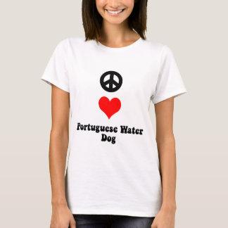 Peace love Portuguese Water Dog T-Shirt