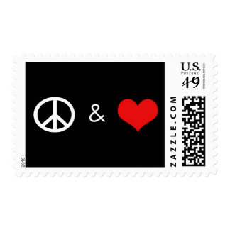 Peace & Love Stamp