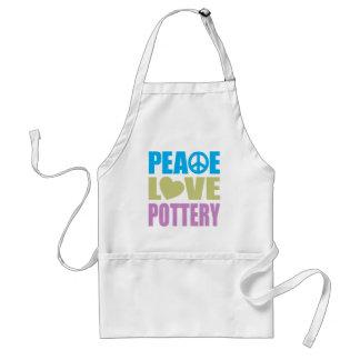 Peace Love Pottery Adult Apron