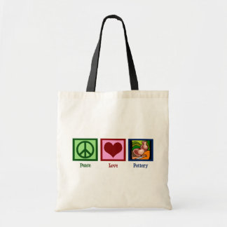 Peace Love Pottery Bags