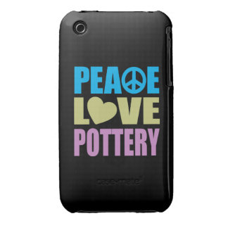 Peace Love Pottery iPhone 3 Case