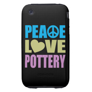 Peace Love Pottery Tough iPhone 3 Cover
