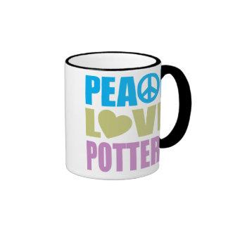 Peace Love Pottery Coffee Mugs