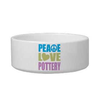 Peace Love Pottery Pet Bowls