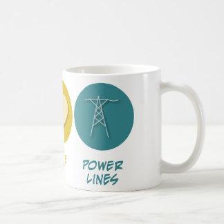 Peace Love Power Lines Mugs