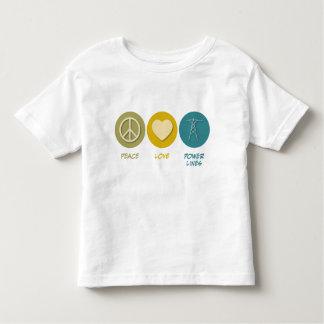 Peace Love Power Lines Tshirts