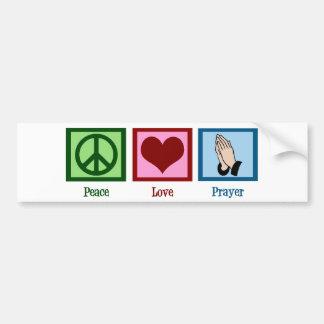 Peace Love Prayer Bumper Sticker