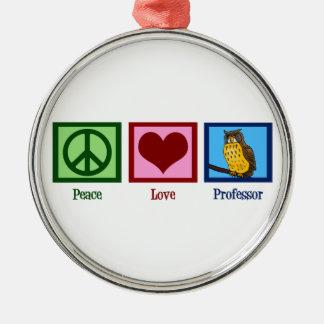 Peace Love Professor Christmas Tree Ornaments