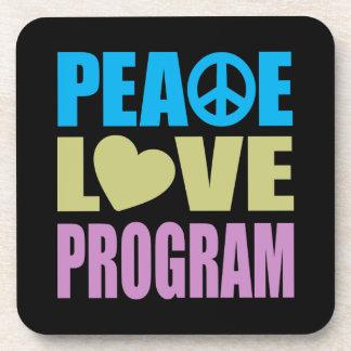 Peace Love Program Beverage Coaster