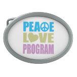 Peace Love Program Oval Belt Buckles