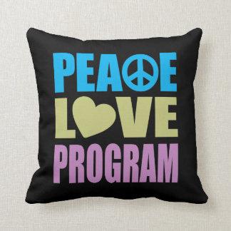 Peace Love Program Throw Pillows
