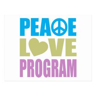 Peace Love Program Postcard