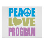 Peace Love Program Poster