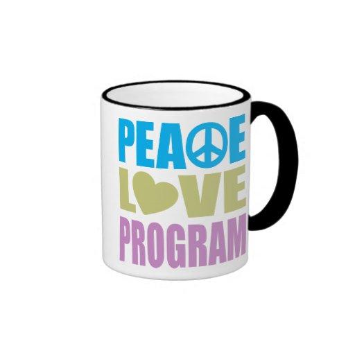 Peace Love Program Ringer Coffee Mug
