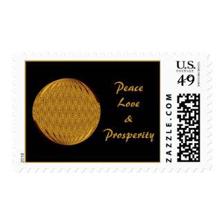Peace Love Prosperity Stamp