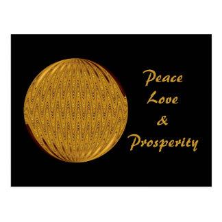 Peace Love & Prosperity Postcard
