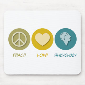 Peace Love Psychology Mouse Pad