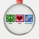 Peace Love Psychology Ornament