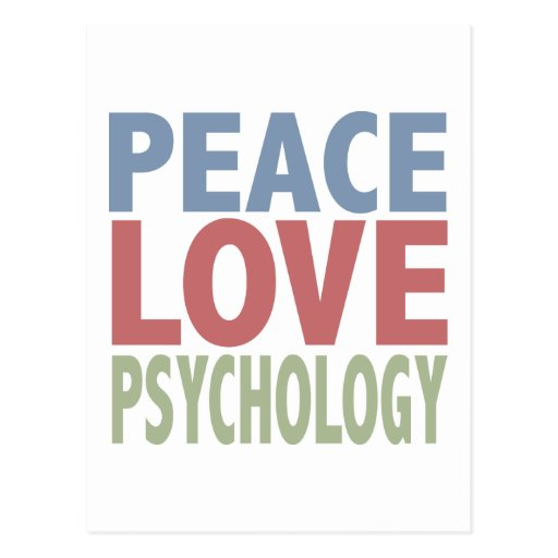 Peace Love Psychology Post Card