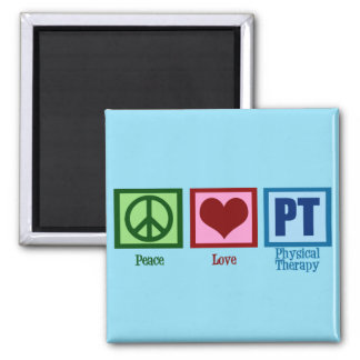 Peace Love PT Physical Therapist Magnet