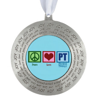 Peace Love PT Physical Therapist Ornament