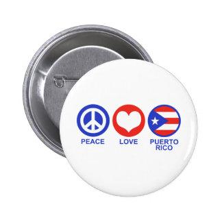 Peace Love Puerto Rico 2 Inch Round Button