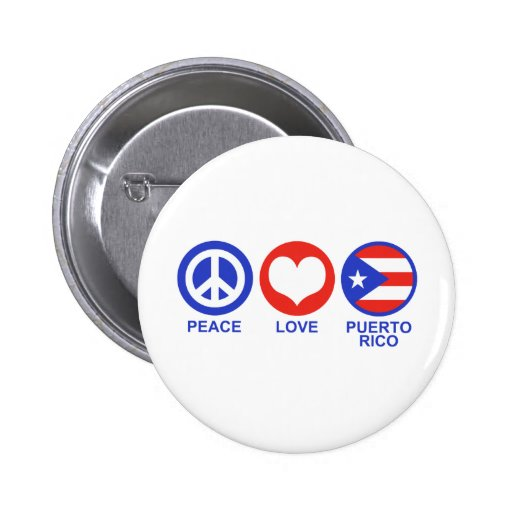 Peace Love Puerto Rico Buttons