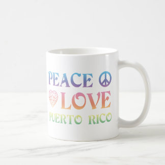 Peace Love Puerto Rico Coffee Mug