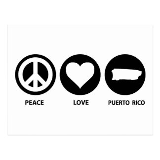 Peace Love Puerto Rico Postcard