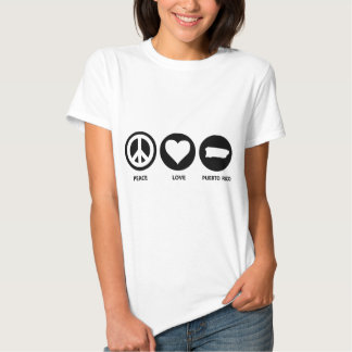 Peace Love Puerto Rico Tee Shirt