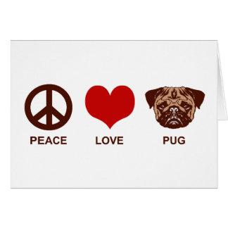 Peace Love Pug Card