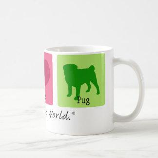 Peace Love Pug Coffee Mug
