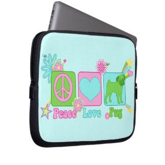 Peace - Love - Pug Laptop Sleeve
