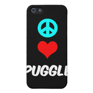 peace love puggle cover for iPhone SE/5/5s