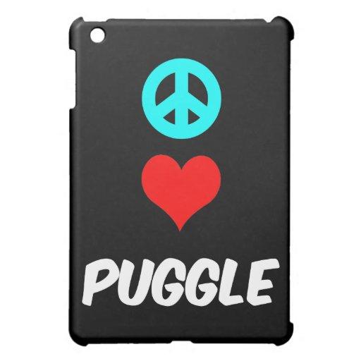 peace love puggle iPad mini cases