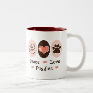 Peace Love Puggles Mug