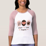 Peace Love Puggles Raglan Tee Shirt