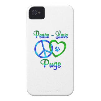 Peace Love Pugs iPhone 4 Covers