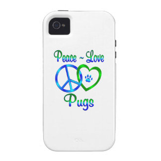 Peace Love Pugs Vibe iPhone 4 Case
