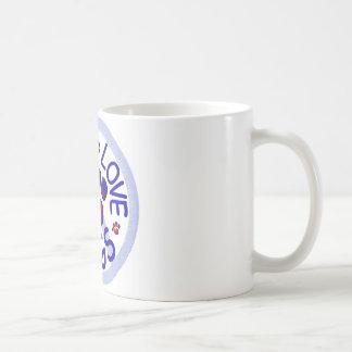 Peace Love Pugs Ceramic Coffee Mug