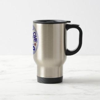 Peace Love Pugs Stainless Steel Travel Mug