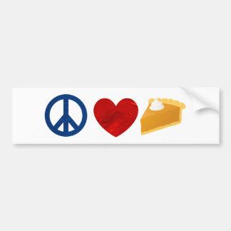 Peace, Love, Pumpkin Pie Bumper Sticker