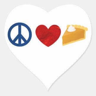 Peace, Love, Pumpkin Pie Heart Sticker