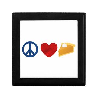 Peace, Love, Pumpkin Pie Keepsake Boxes