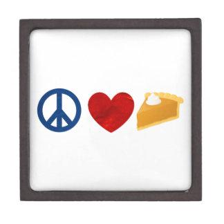 Peace, Love, Pumpkin Pie Premium Jewelry Boxes