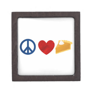 Peace, Love, Pumpkin Pie Premium Keepsake Box